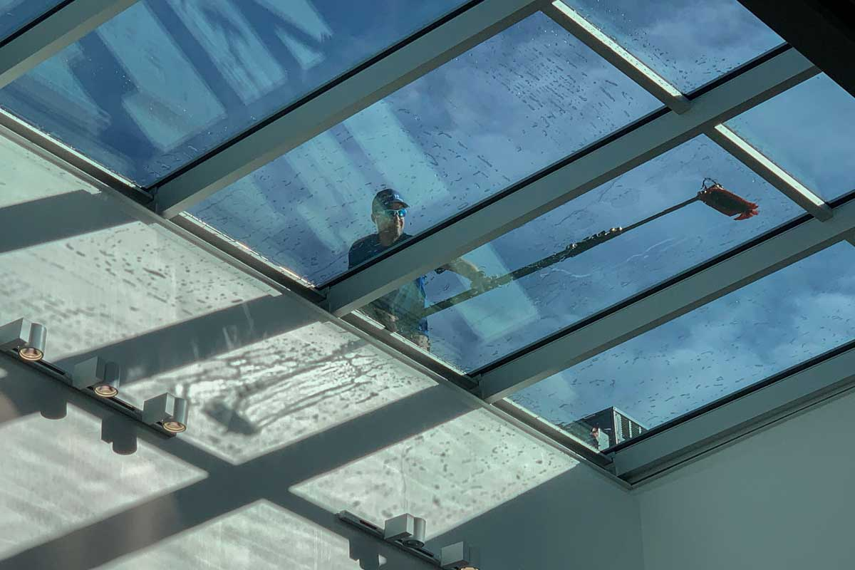 Glass Panel Roof - Commercial Window Cleaning